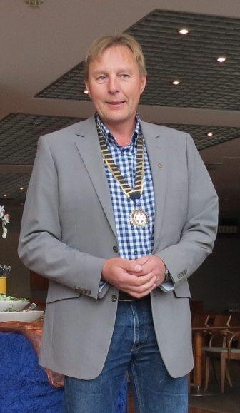 Goodfather-hankkeen isä Mika Laine, Sepänhaan Rotaryklubin presidentti 2013-14.